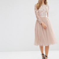 Needle & Thread Embellished Buttefly Midi Dress at asos.com