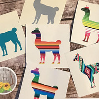llama decal . llama vinyl decal . llama sticker . cup decal . car decal . window decal . laptop decal .
