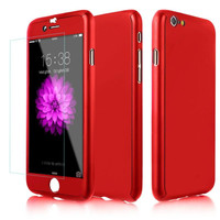 Neo Hybrid Hard PC 360 Degrees Full Body Protect Case iPhone 6 6S Plus + Tempered Glass Screen Protector