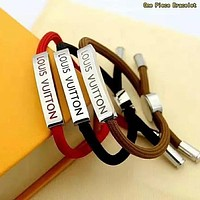 LV Louis Vuitton Newest Women Men Personality Drawstring Bracelet Hand Catenary
