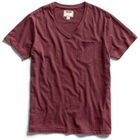 Maroon Pocket V-Neck T-Shirt