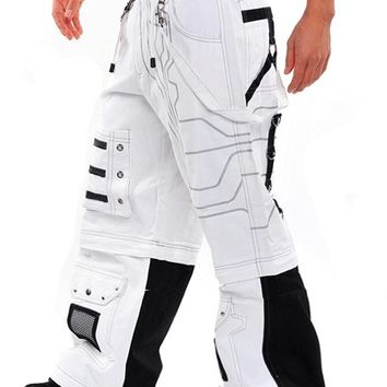 Amok White Circuit Pants : Cyber Rave Pants and Clothing