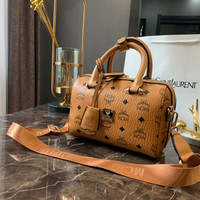 MCM Leather Top Handle