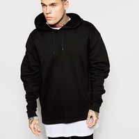 ASOS Oversized Overhead Hoodie With Ruched Back