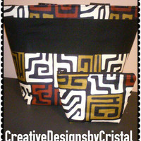 READY NOW- Beautiful ladies tote bag with FREE makeup bag