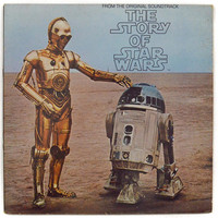 Vintage 70s The Story of Star Wars Soundtrack Gatefold Album Record Vinyl LP
