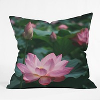 Catherine McDonald Lotus Field Throw Pillow