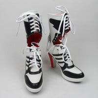 Harley Quinn DC Suicide Squad Boots Heels Shoes Cosplay Movie Halloween Costumes
