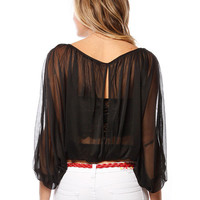 Papaya Clothing Online :: OPEN BACK PLEATED DRESSY TOP