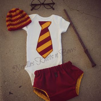 Boys Harry Potter Outfit, Newborn Boys Coming Home Outfit, Infant, Baby Boys Clothes, Halloween Costume