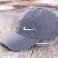 NIKE New fashion hook print couple cap hat Gray