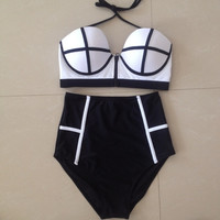 New Plus Size popular sexy Swimwear Ball High Waist Swimsuit Bikini 2016 Swimming Suit Biquini Tankini