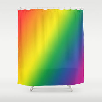 Gay Pride Gradient Shower Curtain by Poppo Inc. | Society6