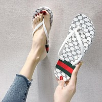 Gucci GG New Flip Flops Ladies Beach Sandals and Slippers Fashionable Outerwear