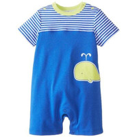 Offspring Embroidered Baby Boys Romper
