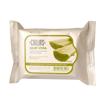 CALLAS Cleansing & Makeup Remover Wipes, 30 Wipes