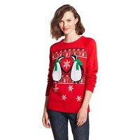 Kissing Penguins Ugly Christmas Sweater Red Awake : Target