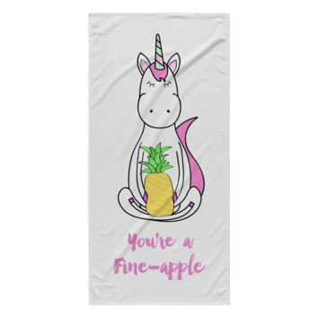 You're a Fine-Apple Unicorn Beach Towel