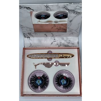 BOSS UP 3D Mink Eye Lash Set