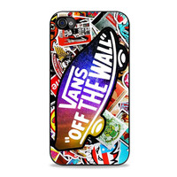 Vans Off The Wall Galaxy Logo Fashion With Sticker Sakateboard Grafiti Iphone 4S Cases