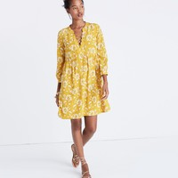Silk Lace-Up Dress in Assam Floral : | Madewell