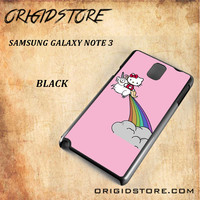 HELLO KITTY UNICORN Snap on 2D Black and White Or 3D Suitable With Image For Samsung Galaxy Note 3 Case
