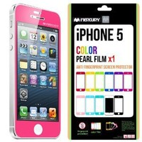 SQ 1 [Mercury] Matte Finish Color Screen Protector for Apple iPhone 5 (Hot Pink)