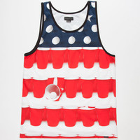 O'neill Murca Mens Tank Red/White/Blue  In Sizes