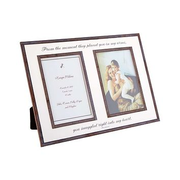 """From The Moment They Placed You Double 5""""x 7"""" Copper & Glass Photo Frame"""