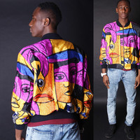 Vintage Fresh Prince Jacket - Baroque Royalty Scarf Jacket - Picasso - 538s