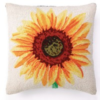 Sunflower Pillow 18X18""