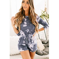 The Way I Like It Tie Dye Romper (Navy)