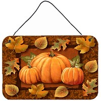 Pumpkins and Fall Leaves Wall or Door Hanging Prints PTW2009DS812