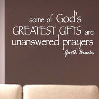 Unanswered Prayers | Vinyl Wall Lettering | Wall Quotes | Decals