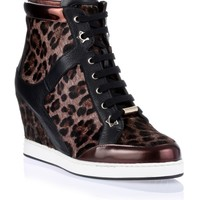 Preston leopard print wedge sneaker Jimmy Choo - Designer Shoes at ShopSavannahs.com