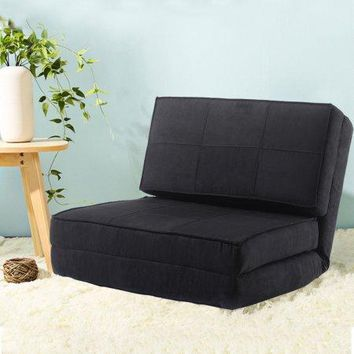 Kids,Teens, Dorm Room Convertible Flip Small Space Lounge Game Chair Sleeper Bed