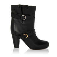 Leather Double-Buckle Boots | Holt Renfrew