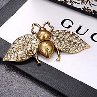 GUCCI Fashion Women Men Retro Bee Brooch Hairpin Accessories Jewelry