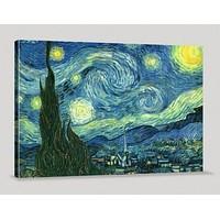Van Gogh The Starry Night Canvas Print Van Gogh Reproduction Print Art Canvas Print for Wall