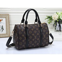 Louis Vuitton LV Fashion Multicolor Full Print Luggage for Men and Women Traveling Home Black