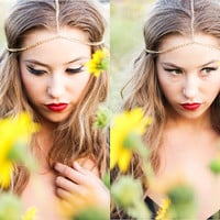 Gold Chain Headpiece--simple yet beautiful gold chain head band