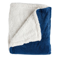Andrea King-size Navy Super Soft Melange Waffle Throw