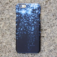 Blue Glitter Style iPhone XR 6 Case Dancing Stars Galaxy S8 S6  Note 3 Case Sparkly iPhone 8 SE  Case 021