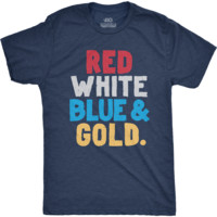 Red, White, Blue and Gold Vintage Tee