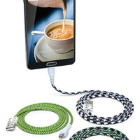 Eastern Collective Braided Fabric Smartphone & Tablet Cables - 30 Pin - Fluorescent