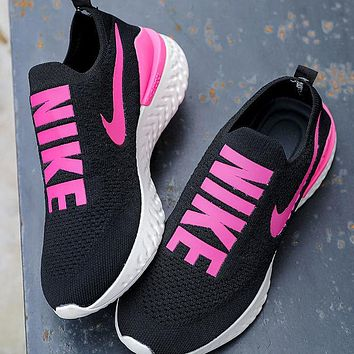 NIKE Men's Women's Casual Breathable Mesh Running Shoes Black Samurai Lightweight Fitness Shoes Soft Sole Sneakers