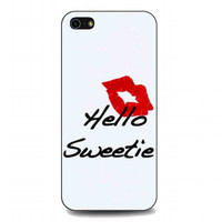 kiss hello sweetie For iphone 5 and 5s case