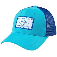 Signature Patch Trucker Hat in Scuba Blue by Southern Tide