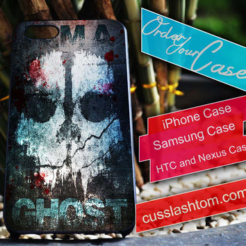 Exclusive Call of Duty Ghost iPhone for 4 5 5c 6 Plus Case, Samsung Galaxy for S3 S4 S5 Note 3 4 Case, iPod for 4 5 Case, HtC One M7 M8