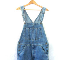 20% OFF SALE... Vintage Jean Bib Overalls. Carpenter Engineer Work Pants.